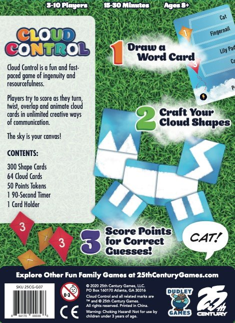 Cloud Control 2020 back of the game box